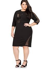 plus size open cage front sheath dress 010 530043x