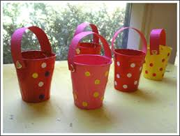 Paper Cup Buckets Needed Cups Hole Punch Paint Construction Brads Stickers