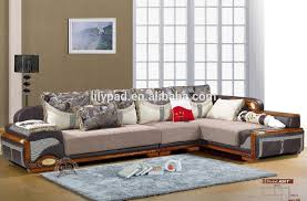 Simple Wooden Drawing Room Corner Fabric Royal Sofa Set Designs