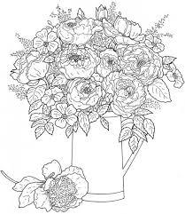Freebie Floral Coloring Page