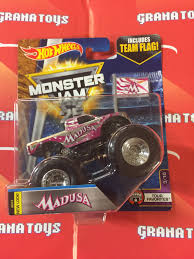 100 Madusa Monster Truck Toy 310 Tour Favorites 2017 Hot Wheels Jam Case C 1