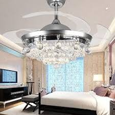 Bladeless Ceiling Fan Amazon by Retractable Crystal Led Ceiling Fan With Remote Controlling