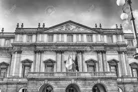 100 House In Milan Facade Of La Scala Opera House In Italy It Is Known As