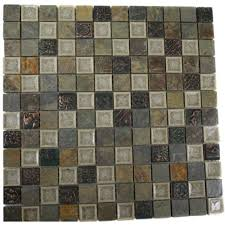 Home Depot Wall Tile Sheets by Multi 12x12 Splashback Tile Mosaic Tile Tile The Home Depot