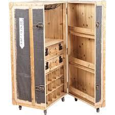 bar koffer schrankkoffer im vintage look stoff