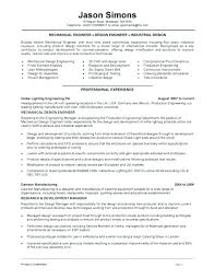 Sample Engineering Resume Forensic Mechanical Engineer