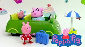 peppa pig la voiture de vacances car jouets en