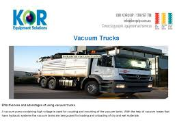 Vacuum Trucks By KOR Equipment Solutions Pty Ltd - Issuu Used Western Star 4900sa Combi Vacuum Trucks Year 2007 Price Vacuum Trucks Curry Supply Company Small For Sale Best 2008 Intertional 7600 Tank Progress 300 To 995gallon Slidein Units Freightliner Vacuum Truck For Sale 112 Liquid Transport Trailers Dragon Products Ltd For Truck N Trailer Magazine Hydroexcavation Vaccon Used 1999 Sterling Lt9500 1831 Our Fleet Csa Specialised Services 2004 Freightliner Business Class M2 Truckdot Code In Flowmark Pump Portable Restroom