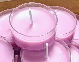 Pink tea lights