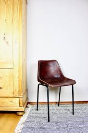 vintage chair leather brown industrial design leather