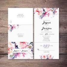 Blue and Gold Fern Wedding Invitations Pinterest