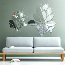 Wall Mirrors 3d Mirror Panels Europe Sticker Classic Lotus Flowers