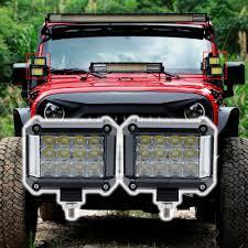100 Work Lights For Trucks New 4inch 57W LED Offroad Led Bar Light Boat ATV