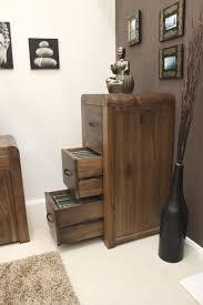 Three Drawer Filing Cabinet Wood by Baumhaus Shiro Walnut 3 Drawer Filing Cabinet Amazon Co Uk