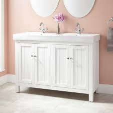 Trough Sink Vanity With Two Faucets by Should I Convert Single Sink To Double Sink Vanity W Only 48