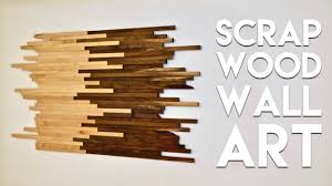 Scrap Wood Wall Art Made From Walnut Maple