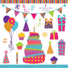 Clip Art Birthday Party Theme Clipart