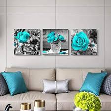 waguza blumen gerahmte kunstwerke ein satz abstrakte blaue