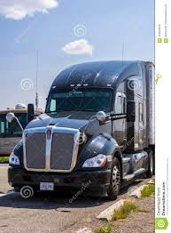 Parked Semi Truck Editorial Stock Photo. Image Of Trucking - 124450448