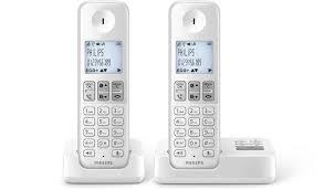 téléphone fixe sans fil avec répondeur d2352w fr philips