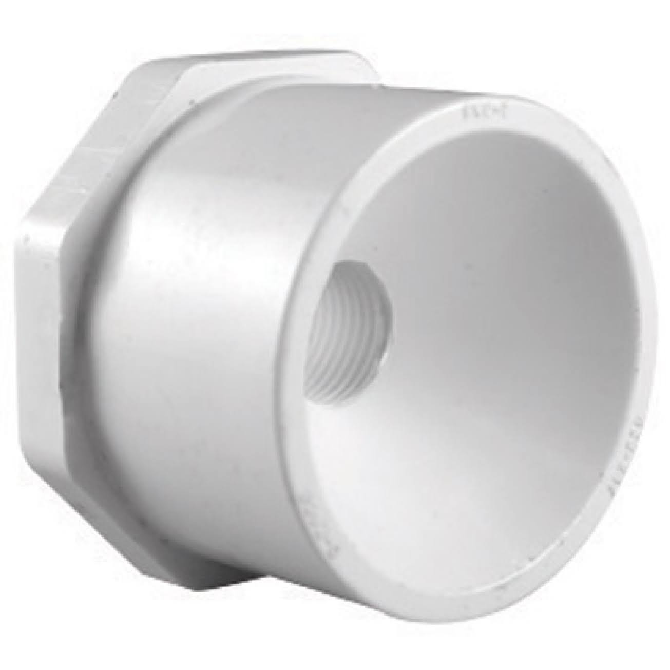 "Charlotte Pipe PVC Reducing Bushing - 1 1/2"" X 1"", White"