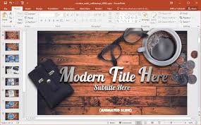 Rustic Coffee Shop Powerpoint Template