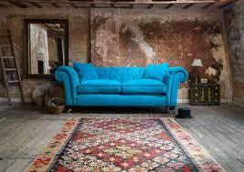 intérieur et canapé meubles design canapé bleu vif met accent couleur dans intérieur