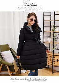 winter pregnant women down jacket turtleneck fashion maternity
