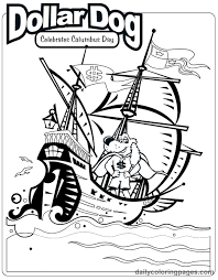 Christopher Columbus Day Printable Coloring Pages