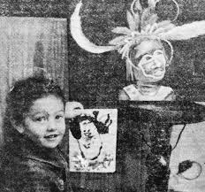 From A 1980s Newspaper Clipping Me My Painting Beside Mums