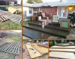 DIY Wooden Pallet Deck For Under 300