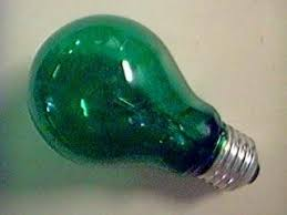 gls 60 watt 110 volts base es green light bulb lacquer