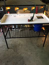 Fish Cleaning Table With Sink Bass Pro by Fish Cleaning Set Ups Completed Table