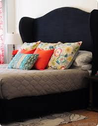 Headboard Designs For King Size Beds by Diy Wingback Headboard Tutorial With Free Pattern All Things Thrifty