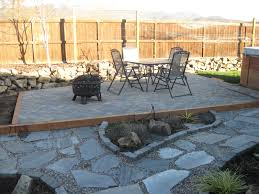 Diy Pea Gravel Patio Ideas by Flagstone With Pea Gravel And Framed Brick Under The Cover