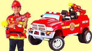 RED FIRE TRUCK Battery-Powered 12V Ride On Puts Out Fire In The ... Modified Kid Trax Fire Truck Bpro Short Youtube 6volt Paw Patrol Marshall By Walmartcom Mighty Max 2 Pack 6v 45ah Battery For Quad Kt10tg Lyra Mag Kid Trax Carsschwinn Bikes Pintsiztricked Out Rides Amazoncom Replacement 12v Charger Pacific Kids Fire Truck Ride On Active Store Deals Ram 3500 Dually 12volt Powered Ride On Black Toys R Us Canada Unboxing Toy Car Kidtrax 12 Cycle Toysrus Cat Corn From 7999 Nextag Engine Toddler Motorz Red Games