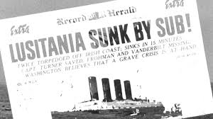 Where In Ireland Did The Lusitania Sink by World War I Anniversary U2014read Wilson U0027s Request To Declare War
