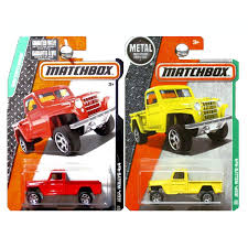 Amazon.com: Matchbox 2015 And 2016 Jeep Willys 4x4 Pickup Truck Set ...