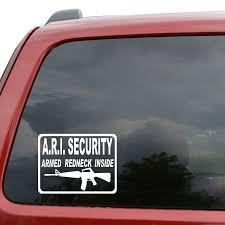 100 Redneck Truck Stickers Car Styling For Armed Inside ARI Gun Car Window Decor Vinyl