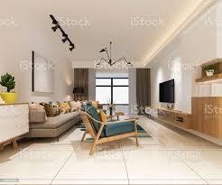 3d rendering minimalistische und moderne wohnzimmer mit gemütlichen sofas stockfoto und mehr bilder architektur