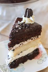 Triple Layer} Cookies and Cream Oreo Cake A Latte Food
