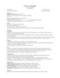 Sample High School Student Resume Example Freshman College