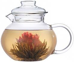 Primula Blossom Glass Teapot Wide Mouthed Borosilicate 40 Oz Dishwasher And Microwave Safe Clear Includes 1 Flowering Tea Click On The Image For