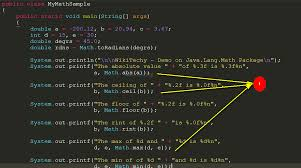how to java class abstract class in java math round java math