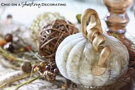 Gold Pumpkin Carriage Centerpiece by Chic On A Shoestring Decorating Fall Centerpiece And Pier 1 Gift