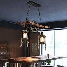 hws holz pendelleuchte vintage eiche hängeleuchte esstisch esszimmer pendelle industrial metal hängele retro deckenleuchte bambus rustikale