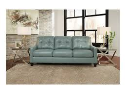 Levon Charcoal Queen Sofa Sleeper by Signature Design By Ashley O U0027kean Contemporary Leather Match Queen