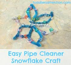 Winter Craft Easy Piper Cleaner And Bead Snowflake Crafts Fun