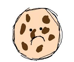 Sad chocolate chip cookie