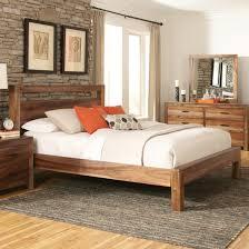 coaster peyton california king platform bed in natural brown